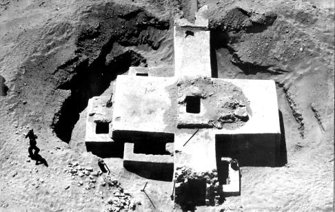 Figure 1 - The Jawan tomb as photographed from helicopter by Sgt. W. Seto, USAF, in May 1952 The Jawan Chamber Tomb Adapted from a report by F.S. Vidal, Dammam, December 1953 I.