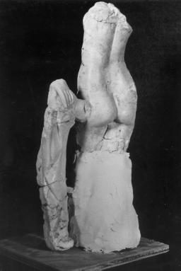 Figure 8 - The Alabaster Venus of Jawan The girl in this tomb had been wearing a garment, which was not preserved, held together at the