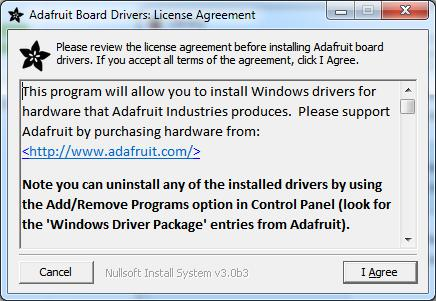 Select which drivers you want to install: By default, we install the Feather 32u4, Feather M0,