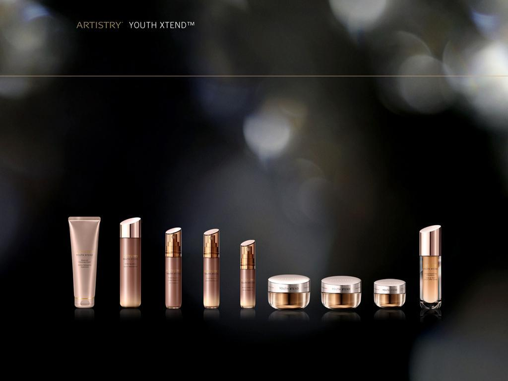 INTRODUCING YOUTH XTEND WHAT New ARTISTRY anti-ageing line New Formula, packaging, story