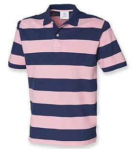 Mens Striped Pique Polo Shirt 100% cotton. Taped neck. Two button placket. Ribbed cuffs. Taped side vents. Twin needle hem.
