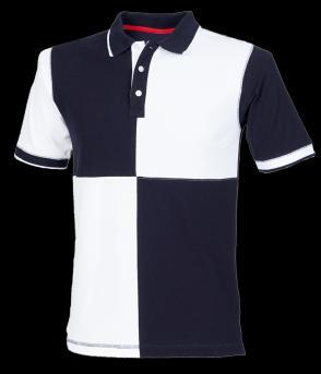 Colours: Navy/Pink (as shown), Navy/White, Heather Grey/Navy, Royal Blue/Navy Mens Quartered Polo Shirt 100% cotton pique.