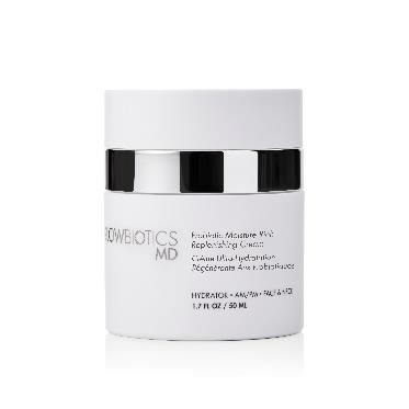 Probiotic Moisture Rich Replenishing Cream This rich moisturizing and highly emollient probiotic cream is infused with probiotics, antioxidants and effective antiaging ingredients to help: Shea