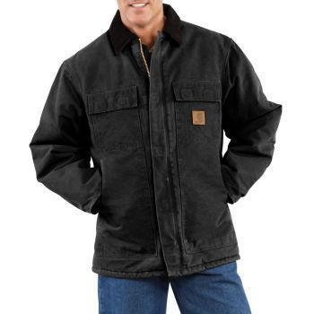 ITEM J Sizes S-XL 110 Points Sizes 2XL-4XL 120 Points Tall Sizes L-4XL 120 Points Safety Award Program Style # C26: Men's Sandstone Traditional Coat/Arctic Quilt-Lined Cold weather is no match for