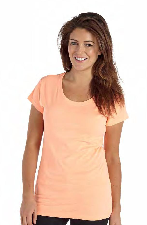 RK44 Skinny fitted longer length T-shirt Neon Green Neon Orange Neon Pink Weight 150/160gsm 100% Cotton Twin needle stitching Taped neck Single