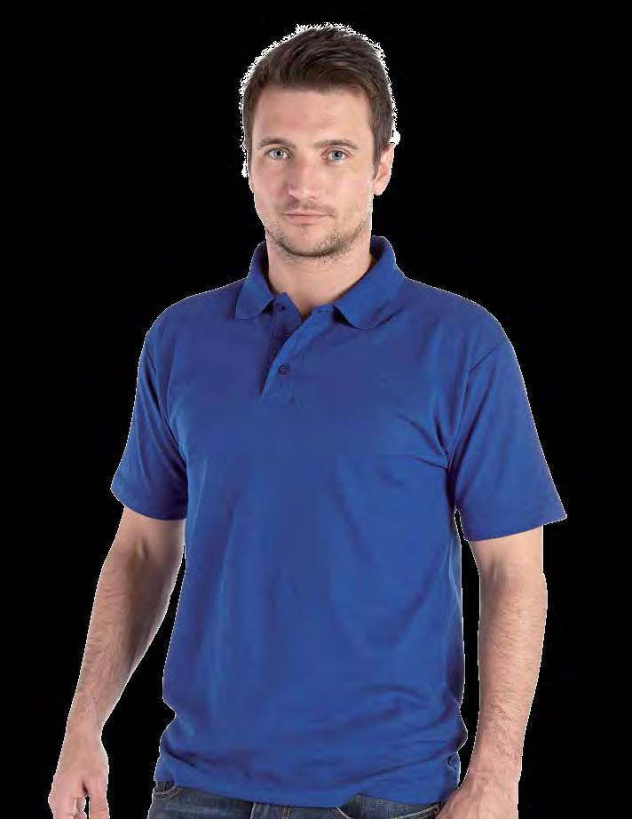 RK16 Active Pique Polo Shirt Weight 180gsm 50% Cotton / 50% Polyester Three button placket with self coloured buttons, taped neckline for extra comfort No