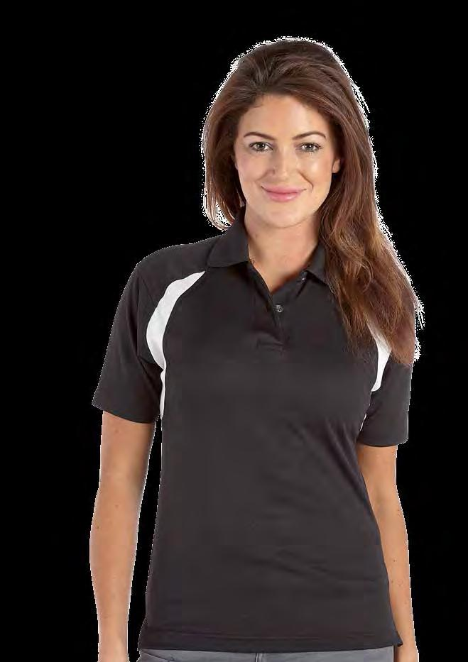 RK185 Deluxe Contrast Ladies Wicking Polo Shirt / / Red/ Royal/ Weight 170gsm 100% Polyester Twin needle stitching throughout Taped neck and shoulders Two button placket Quick dry and moisture