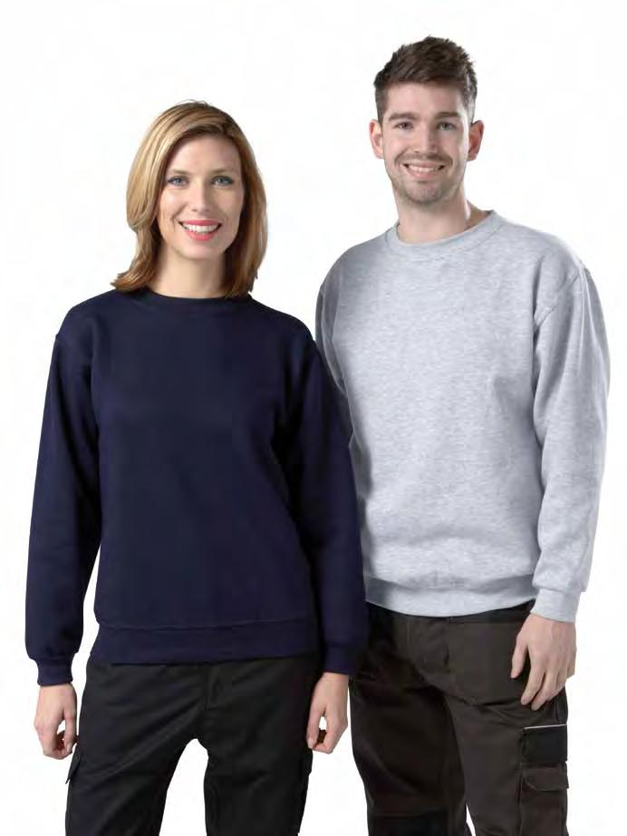 RK29 Active Sweatshirt Weight 260gsm 65% Cotton / 35% Polyester Drop shoulder active sweatshirt Twin needle stitching throughout Half moon yoke Rib at neck, cuffs and hem Available from End of