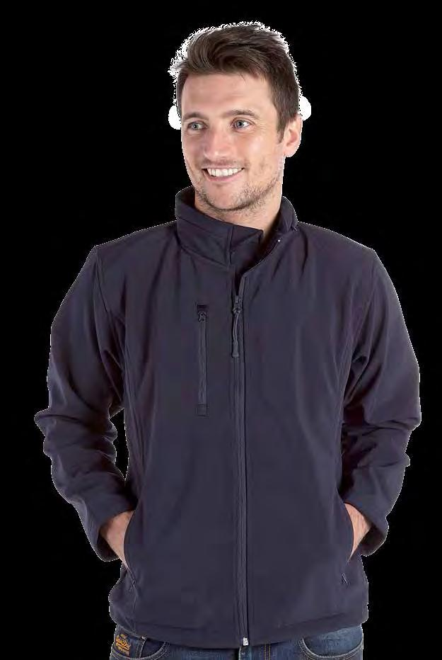RK140 Deluxe Softshell Jacket Weight 300gsm 92% Polyester / 8% elastane Breathable Water repellent finish Wind resistant Softshell 3