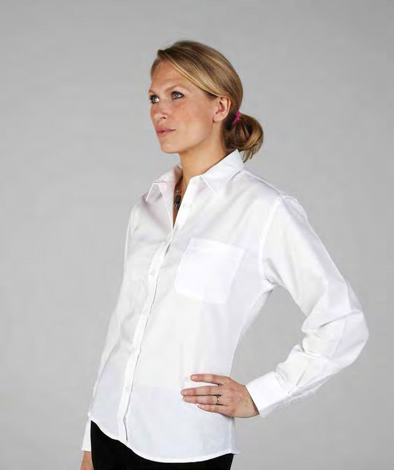 RK114 Ladies Long Sleeve Deluxe Oxford Shirt Light Blue Royal Silver Grey Weight 140/150gsm 70% Cotton / 30% Polyester Wrinkle resistant finish Left chest pocket Spare button Pearlised buttons