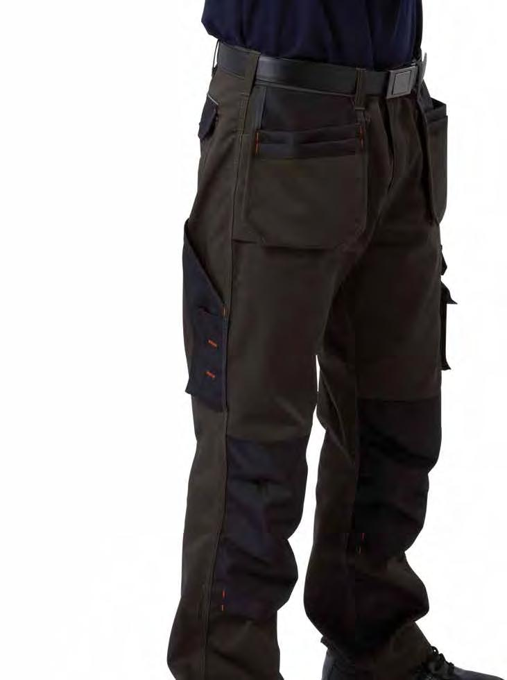 RK120 Deluxe Multipurpose Trousers Graphite Weight 310gsm 65% Polyester / 35% Cotton Concealed YKK zip fly with stud button front