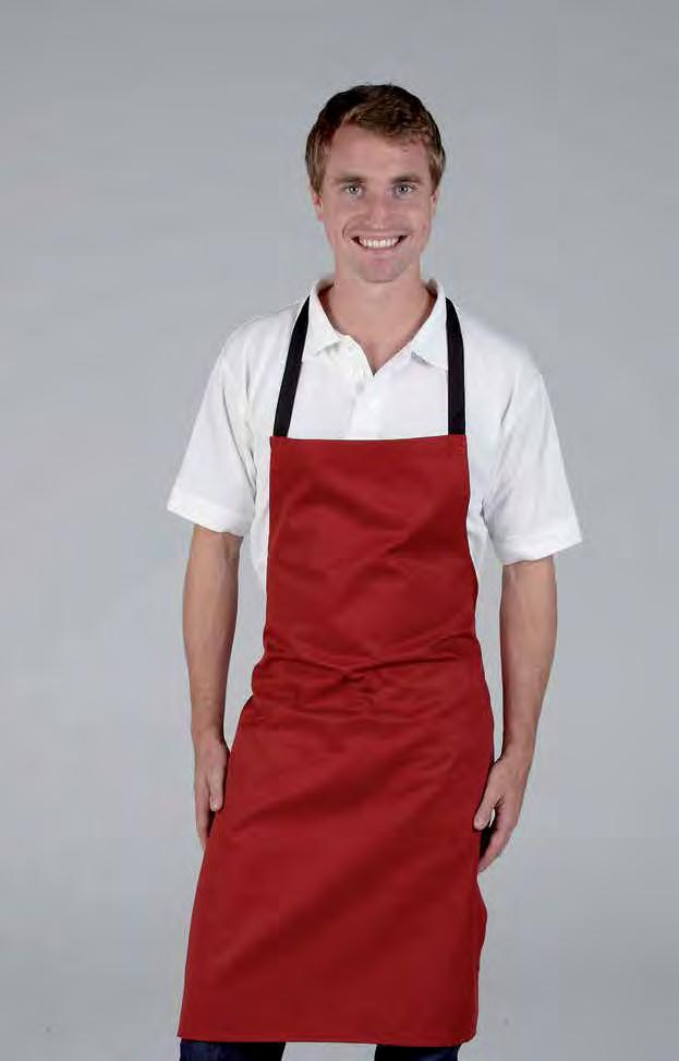 RK101 Bib Apron no Pocket Weight 195gsm 65% Polyester / 35% Cotton cotton ties no pocket Teflon