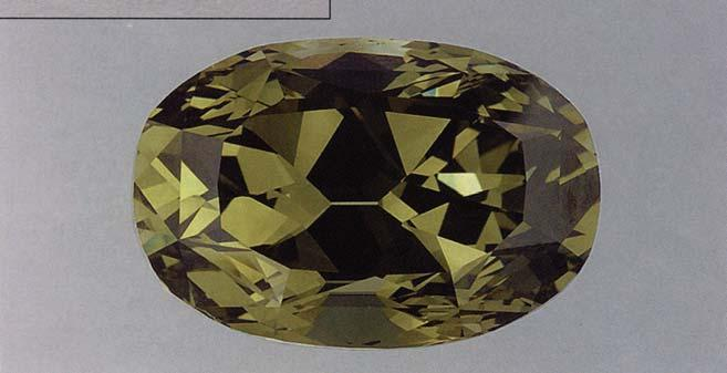 colored diamonds for which the green component can be determined to be of natural origin.
