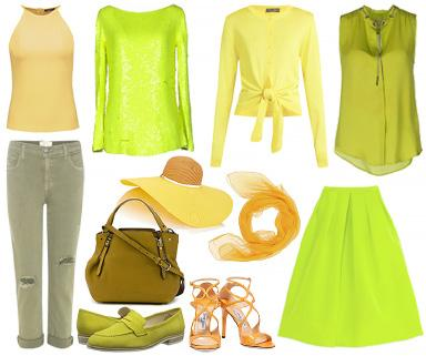Marigold, Yellow & Green