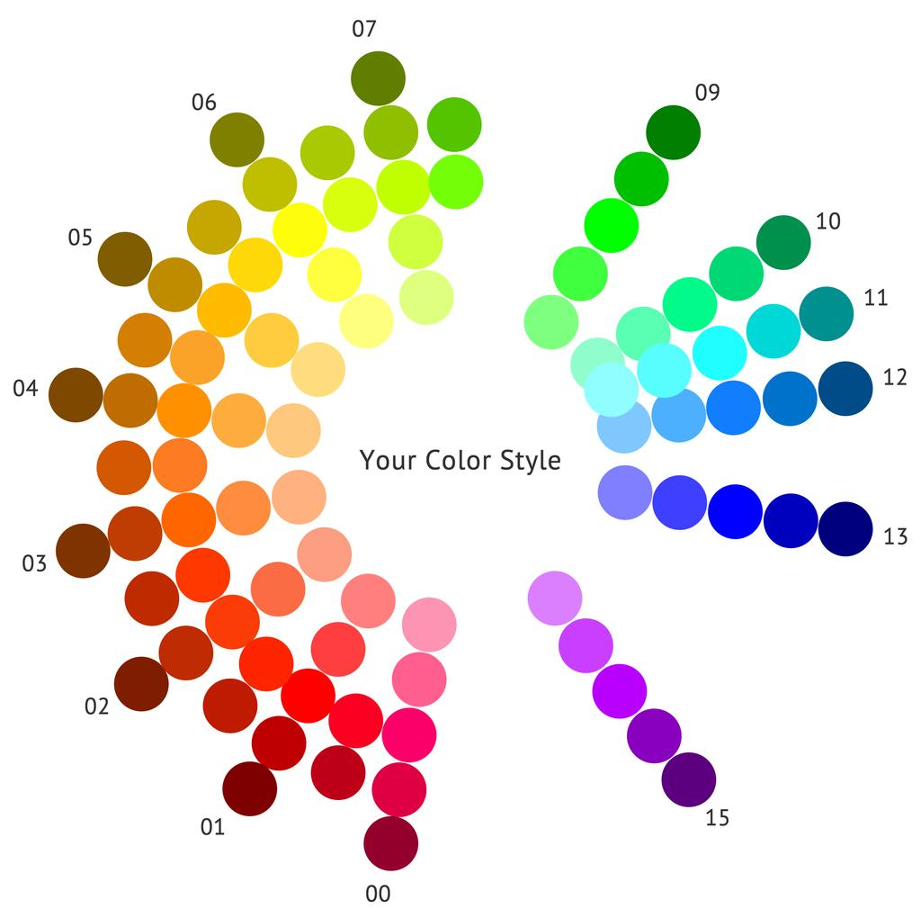 The Bright, Warm and Deep Color Wheel This is your bright and warm color wheel, customized for deep features.