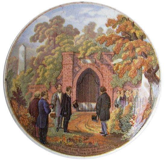 Fig. 12 (below on left): H.R.H. The Prince of Wales Visiting the Tomb of Washington (F. & R. Pratt & Co.). Then, as now, British royalty was always of interest.
