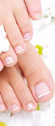 Nails are shaped and nails and cuticles are nourished by creams and oils. Essential vitamins and minerals are then absorbed during a luxurious hand and arm or leg and foot massage.