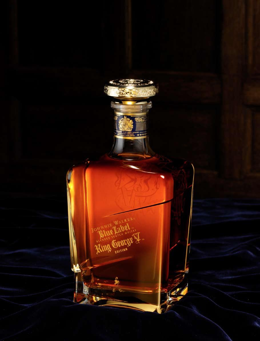 available on board while stocks last THE NOBLE CHOICE Johnnie Walker Blue Label King George V Edition The JOHNNIE WALKER,