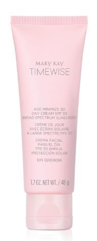 TimeWise Age Minimize 3D Day Cream with SPF 30* By day, this moisture-replenishing cream helps prevent visible signs of skin aging.