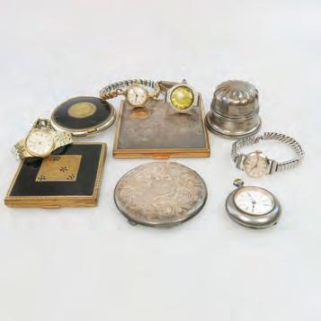 $150 250 45 SMALL QUANTITY OF WATCHES, COMPACTS, ETC including a Birks sterling silver