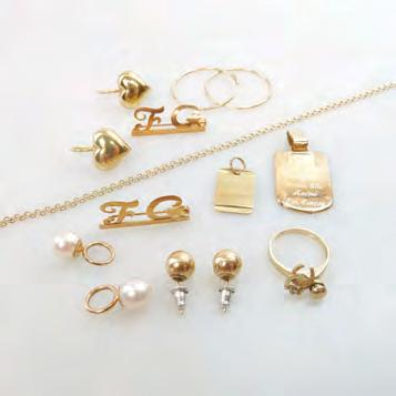 85 SMALL QUANTITY OF VARIOUS GOLD JEWELLERY including hoop earrings; a 14k chain; a pair of 18k