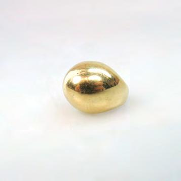 157 18K YELLOW GOLD DOME RING size 6, 10.