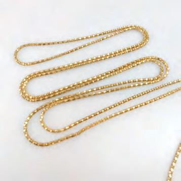ENGLISH 9K YELLOW GOLD CHAIN length 58 in 147.3 cm, 15.