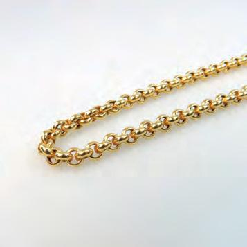 9 grams $350 500 212 10K YELLOW GOLD ROPE CHAIN length 20 in 50.8 cm, 12.