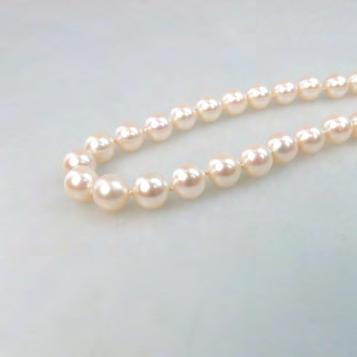 229 SINGLE STRAND OF CULTURED PEARLS (7.0mm to 7.5mm); no clasp length 34 in 86.