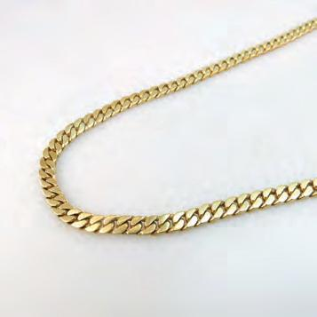 235 18K YELLOW GOLD CURB LINK CHAIN length 19 in 48.3 cm, 72.