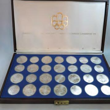 7 SET OF 28 MONTREAL OLYMPIC COINS in the original