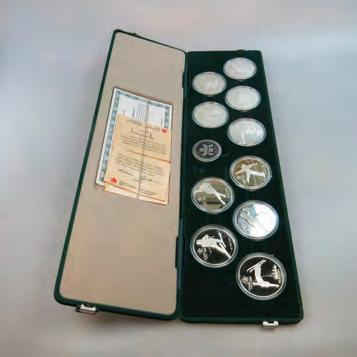 the original case 9 QUANTITY OF VARIOUS COINS AND