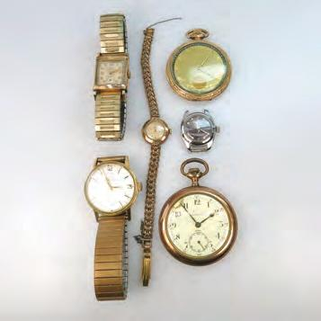 case and strap, with the original box and papers $150 200 388 SIX VARIOUS WRIST AND POCKET WATCHES including a