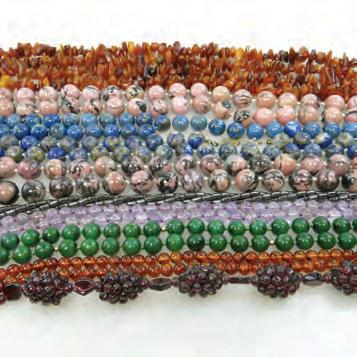 19 QUANTITY OF VARIOUS BEAD NECKLACES including lapis, amethyst, amber, rhodonite, nephrite
