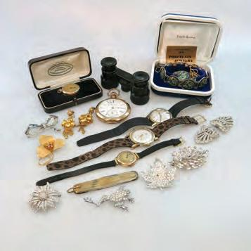 jewellery; gold-filled jewellery; opera glasses; Japanese porcelain jewellery; 2 pocket