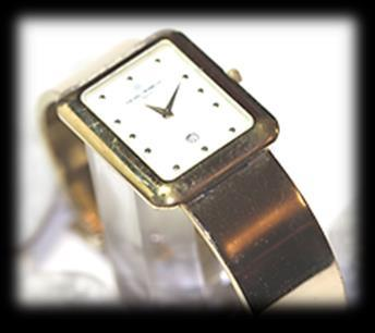 93 Ladies yellow gold plated Michel Herbelin wrist WATCH.