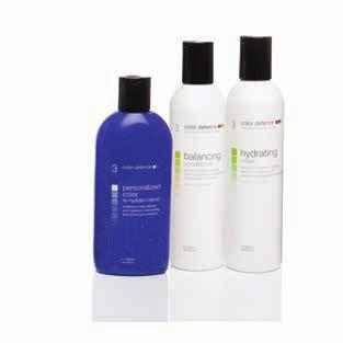 the hair balancing shampoo step two: tone with personalised color
