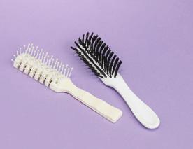 Item # Qty 1 12 08-190 1 ea $5.30 $5.20 Hair Brushes Helps style, smooth and detangle hair 7-3/4 in length Item # Style Color Qty Price 99-HB Plastic White 24/bx $17.