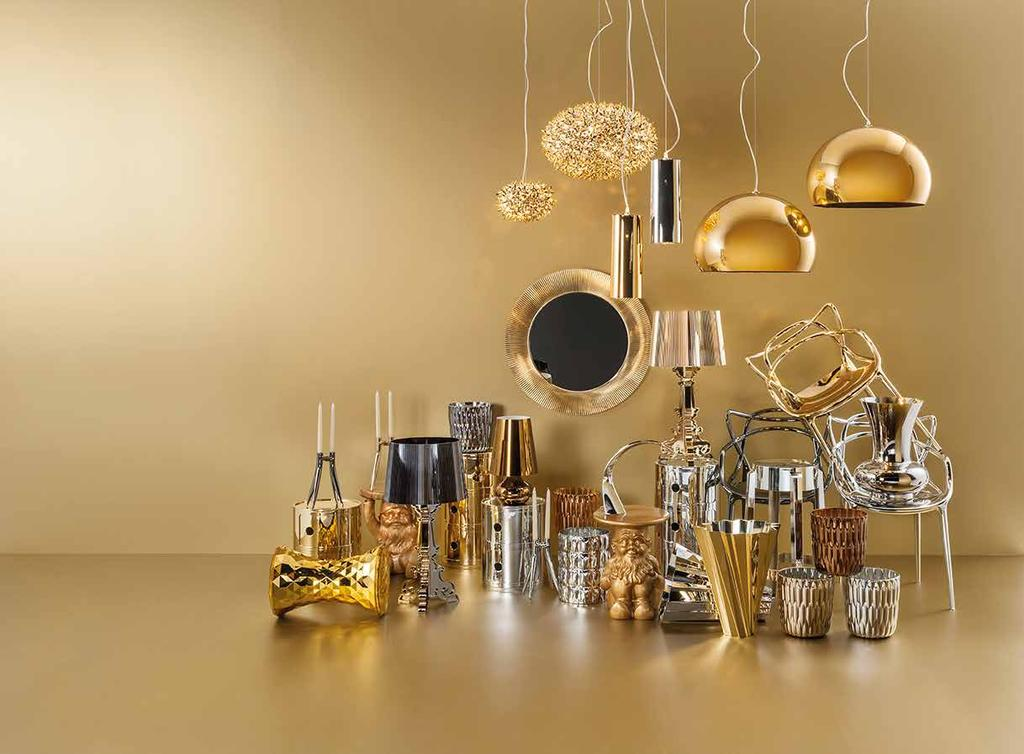 Fiera Rho-Pero, 8-13 April 2014 Milan Furniture Show Precious Kartell A new shade of Gold Highly technological, functional and high-performing, and also vibrating with energy, light and twinkle: