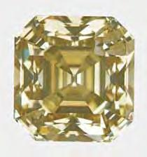 Figure 2. This square-cut 5.20 ct Fancy brownish greenish yellow diamond experienced multiple growth/dissolution stages during its formation. Figure 3.