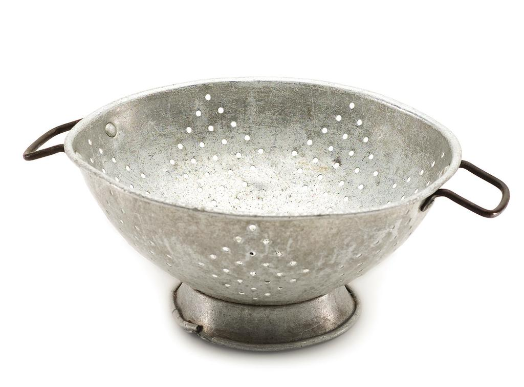 Toosa s Colander To furnish a kitchen: Of knives and forks there must be half a dozen of each, a broiler, a toaster, and a colander. A native Mobilian, Toosa had a privileged Victorian-era upbringing.