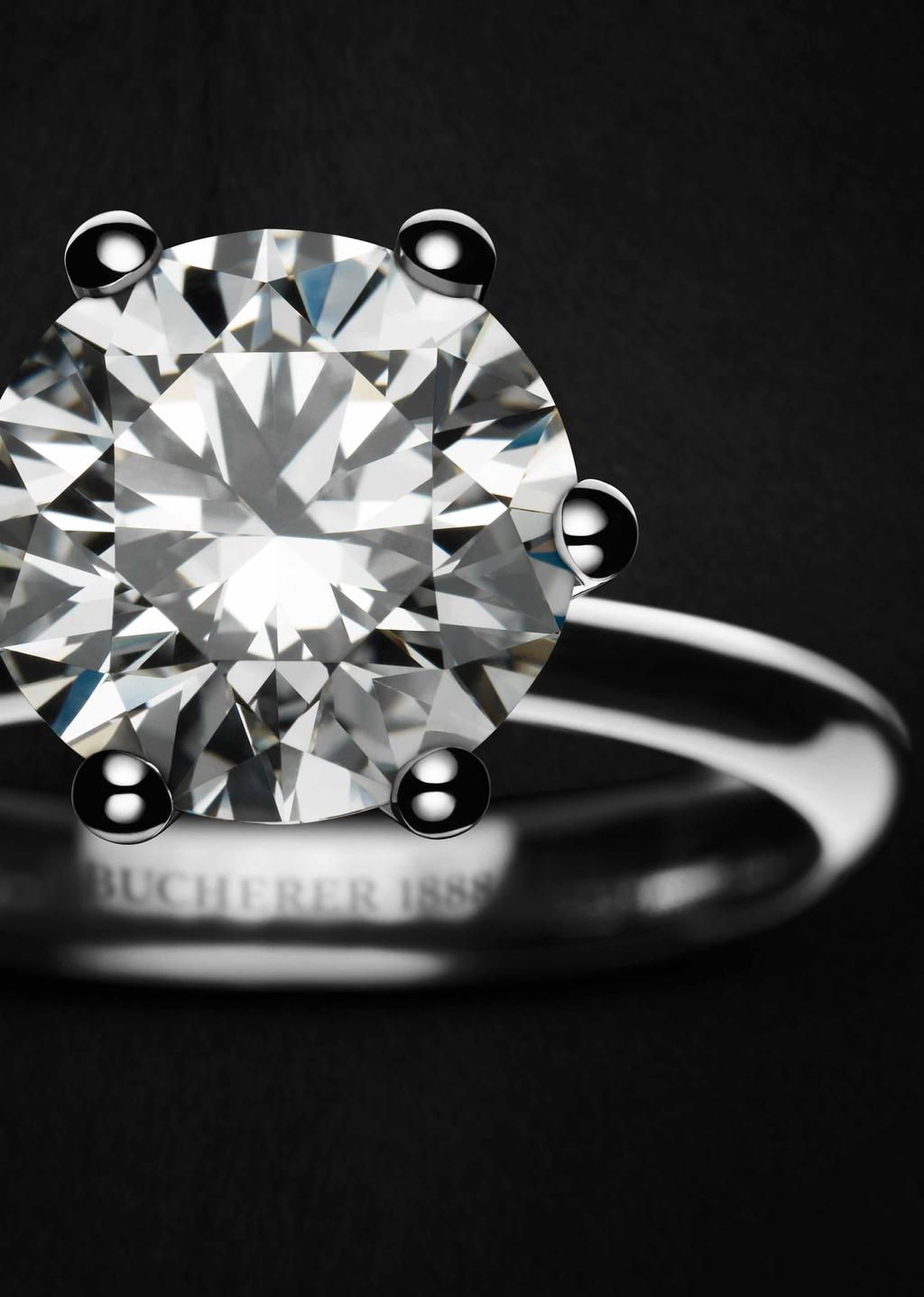 1888 A PERFECT DIAMOND WITH A SIMPLE DESIGN The pure, simple design of the 1888 solitaire ring created by