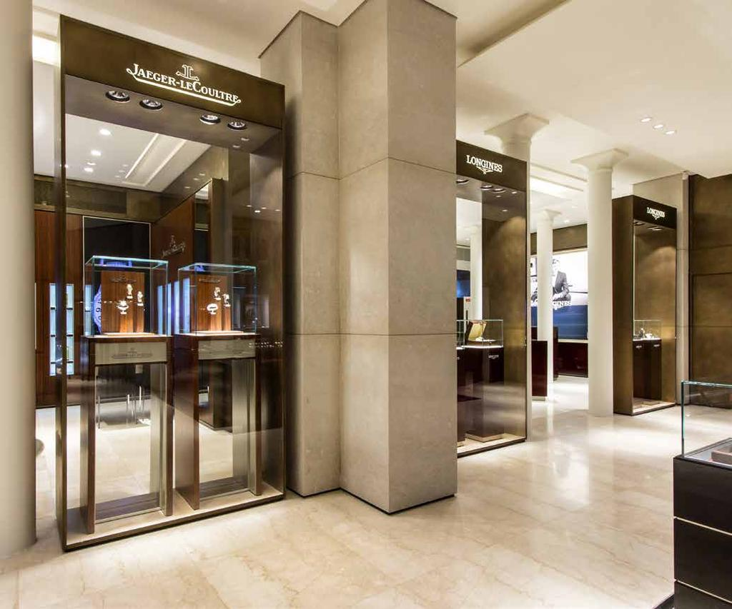 A TRULY LUXURIOUS SHOPPING EXPERIENCE As a renowned specialist retailer, Bucherer offers a discerning international clientele a wide selection of prestigious watch brands and