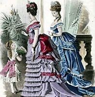The changing fashion silhouette With the beginning of the new decade, the crinoline skirt first altered its shape.