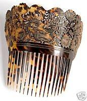 Our example in picture 3 shows that these large Spanish style combs were worn in a characteristic manner.