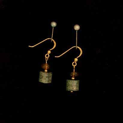 0105 earrings gold plated silver earrings with yellow &