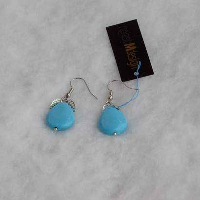 0612 earrings Turquoise (synthetic) earrings with