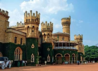 JOURNEYS Heaven & Earth TEXT LIM FONG WEI PHOTO THE LEELA PALACE HOTELS AND GETTY IMAGES (1) Built on 400 acres of land, the Bangalore Palace was used by the Mysore Maharaja as his family summer