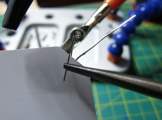 If using any heatshrink, remember to put it on the wire before you solder.