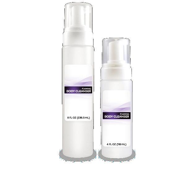 Formulation range includes wash and no rinse formulations as well as shampoo/body